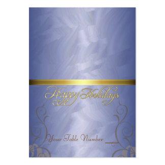 Tabla azul Placecard del día de fiesta de la cinta Plantillas De Tarjetas Personales