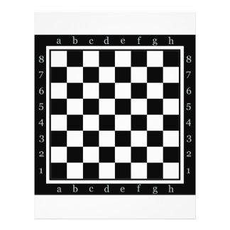 "tabla clásica del ajedrez folleto 8.5"" x 11"""