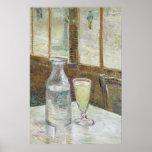 Tabla de Café con el poster del absinth