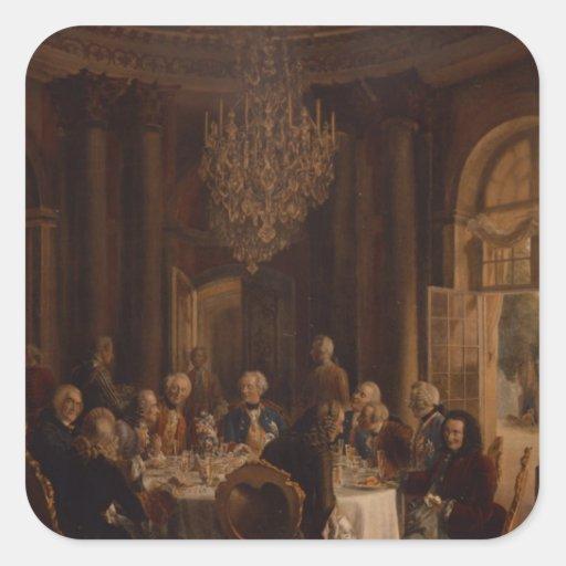 Tabla de cena en Sanssouci, 1850 Colcomanias Cuadradas