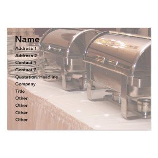 tabla de comida fría tarjetas de visita grandes