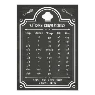 Tabla de conversión práctica de la cocina de la invitaciones magnéticas
