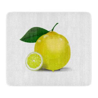 Tabla de cortar botánica del limón