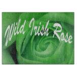 Tabla de cortar color de rosa irlandesa salvaje