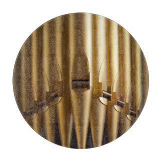 Tabla de cortar coloreada oro de los tubos de órga