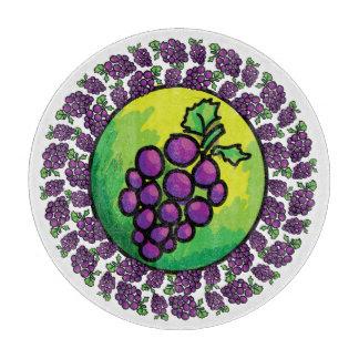Tabla de cortar colorida de la cocina de las uvas