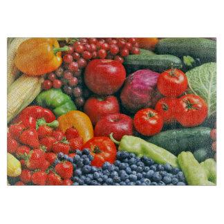 Tabla de cortar de la fruta y de la verdura