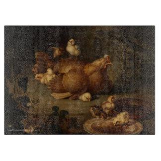 Tabla de cortar de la gallina y de los pollos
