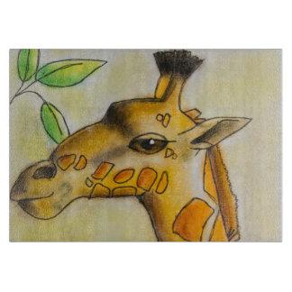 Tabla de cortar de la jirafa de Dina