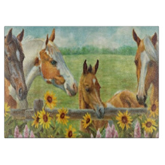 Tabla de cortar de la pintura del caballo