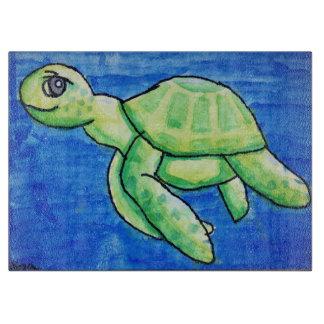 Tabla de cortar de la tortuga del mar de Dina