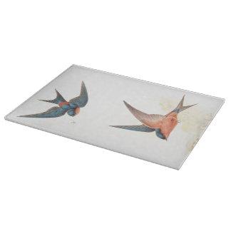 Tabla de cortar de los pájaros del trago de Goulds