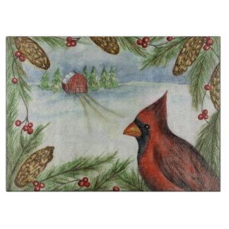 Tabla de cortar del cardenal del invierno