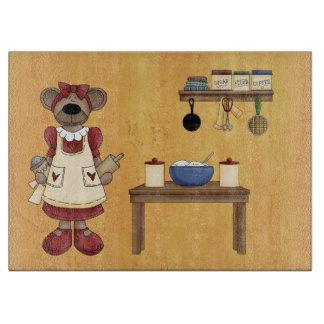 Tabla de cortar del cocinero del oso de peluche