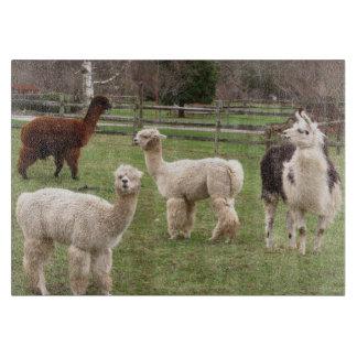 Tabla de cortar del ~ de la mezcla de la alpaca