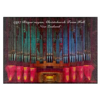 Tabla de cortar del órgano de ayuntamiento de Chri