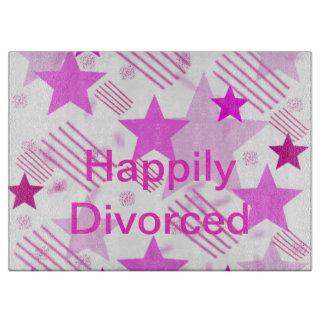 Tabla de cortar feliz divorciada