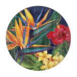 Tabla de cortar floral hawaiana del paraíso tropic