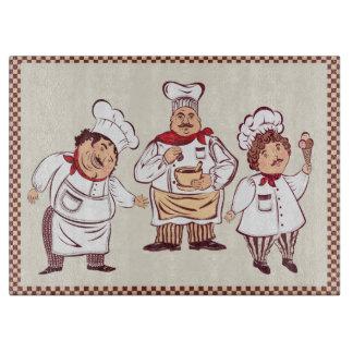 Tabla de cortar gastrónoma de los cocineros