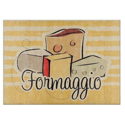 Tabla de cortar italiana del queso