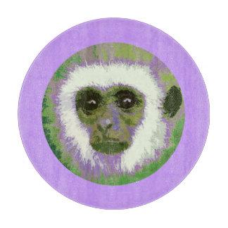 Tabla de cortar (verde) de la cara del mono