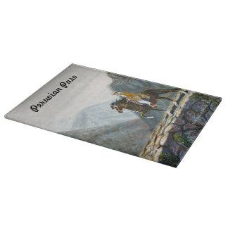 Tabla de cortar, vidrio, rastro de montaña peruano tabla para cortar
