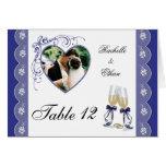 Tabla de cristal Notecard bl de la foto del boda d Tarjetón
