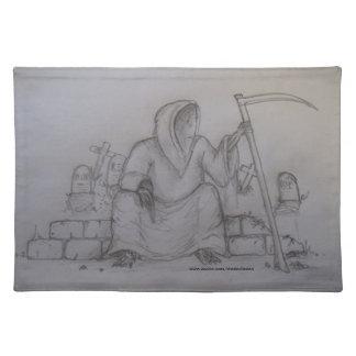 Tabla de dibujo de lápiz de la muerte del parca Pl Mantel Individual