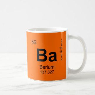 Tabla de elementos periódica (bario) taza
