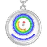 Tabla de elementos periódica circular colgantes