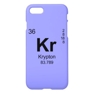 Tabla de elementos periódica (criptón) funda para iPhone 7