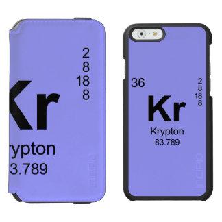 Tabla de elementos periódica (criptón) funda cartera para iPhone 6 watson