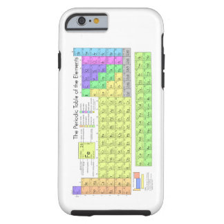 Tabla de elementos periódica funda de iPhone 6 tough