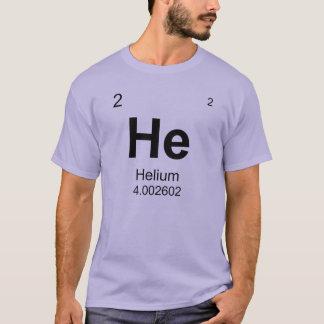 Tabla de elementos periódica (helio) playera