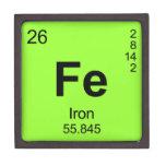 Tabla de elementos periódica (hierro) cajas de recuerdo de calidad