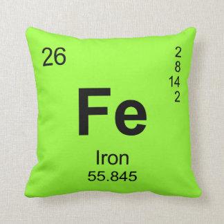 Tabla de elementos periódica (hierro) almohadas