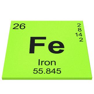 Tabla de elementos periódica (hierro) impresión en lienzo