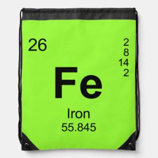 Tabla de elementos periódica (hierro) mochilas