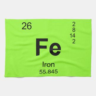 Tabla de elementos periódica (hierro) toalla