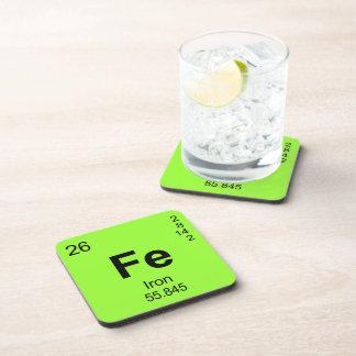 Tabla de elementos periódica (hierro) posavasos