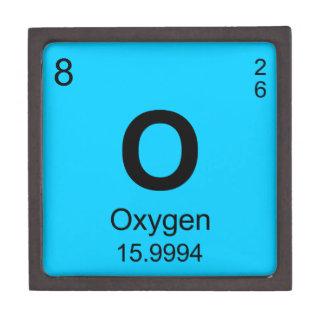 Tabla de elementos periódica (oxígeno) caja de recuerdo de calidad