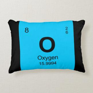 Tabla de elementos periódica (oxígeno) cojín decorativo