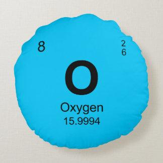 Tabla de elementos periódica (oxígeno) cojín redondo