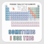 Tabla de elementos periódica pegatinas cuadradases personalizadas