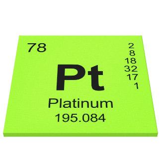 Tabla de elementos periódica (platino) lona envuelta para galerias