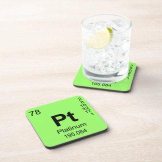 Tabla de elementos periódica (platino) posavasos de bebida