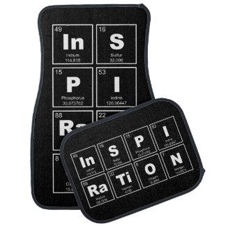 Tabla de elementos periódica química: Inspiración Alfombrilla De Auto