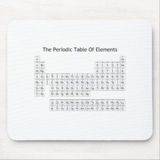 Tabla de elementos periódica tapetes de ratón