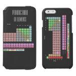 Tabla de elementos periódica funda cartera para iPhone 6 watson