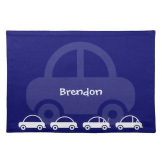 Tabla de encargo Placemats de los coches azules Manteles Individuales